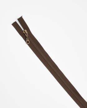 Separable metal zip Prym Z19 60cm Dark Brown - Tissushop