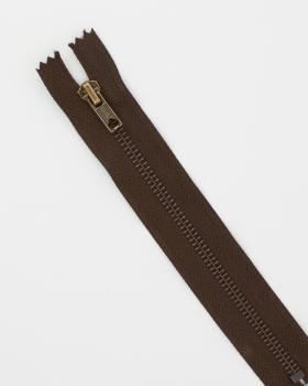 Prym Z14 inseparable metal zip 10cm Dark Brown - Tissushop