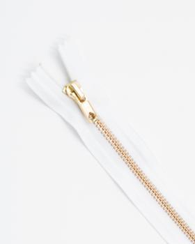 Prym Z14 inseparable metal zip fastener 12cm White - Tissushop