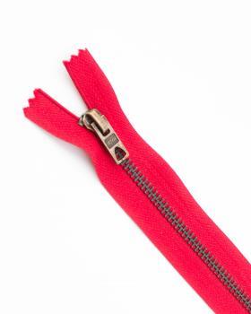 Prym Z14 inseparable metal zip fastener 12cm Red - Tissushop