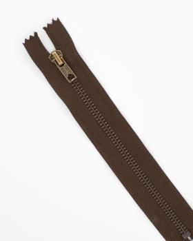 Prym Z14 inseparable metal zip fastener 12cm Dark Brown - Tissushop