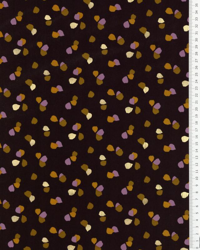 Satin matt confetti on background Black - Tissushop