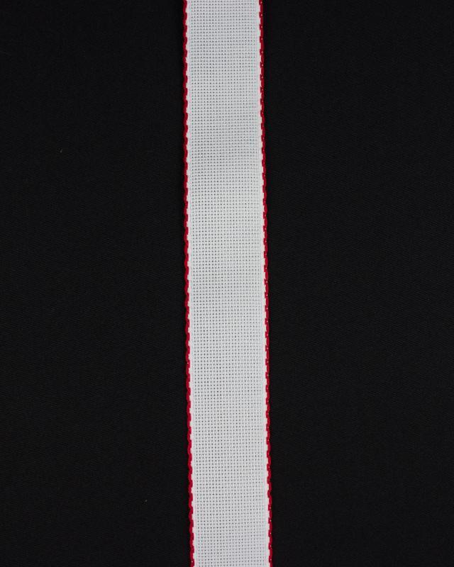 Bande aÏda à broder 50mm Rouge - Tissushop