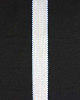 Embroidery tape square edge 50mm Light Blue - Tissushop