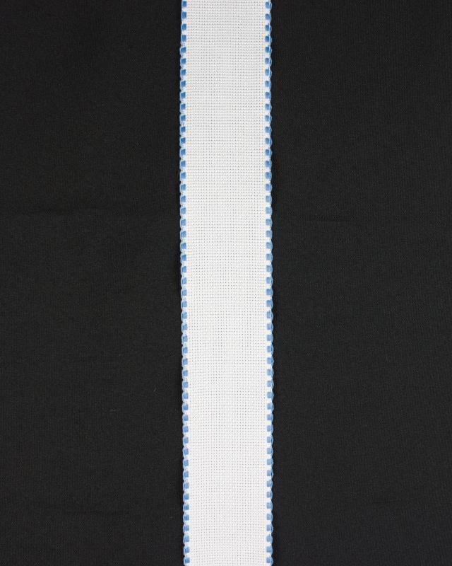 Bande aÏda à broder bord carré 50mm Bleu Ciel - Tissushop