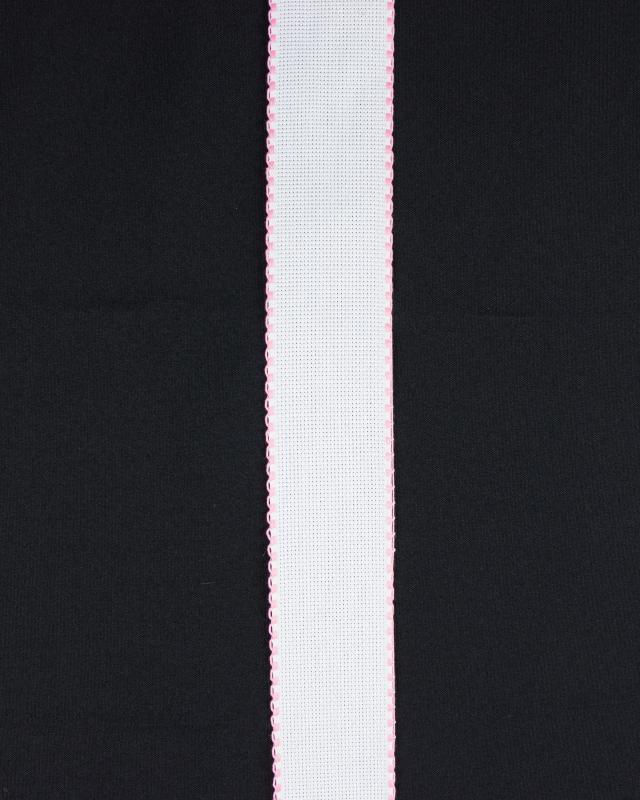 Bande aÏda à broder bord carré 50mm Rose Bonbon - Tissushop