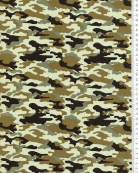 Popeline de coton Camouflage Kaki - Tissushop