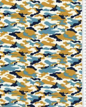 Popeline de coton Camouflage Ocre - Tissushop