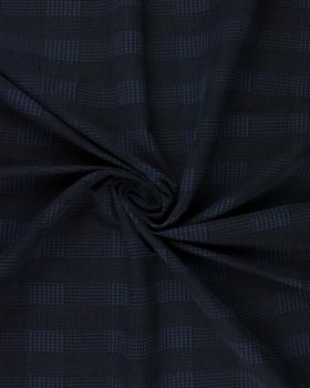 Stretch bengaline with checks Blue - Tissushop