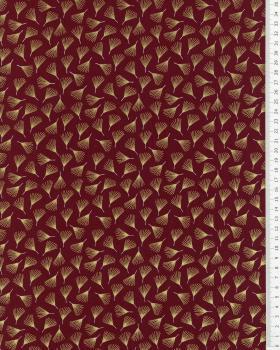 Poplin de coton Pistil Bordeaux - Tissushop