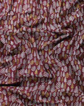 Popeline de coton sapin doré Bordeaux - Tissushop