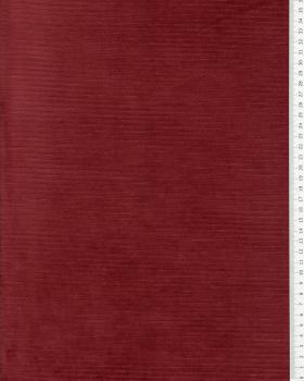 Maille velours côtelé Bordeaux - Tissushop