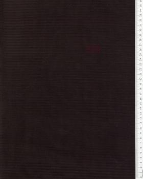 Maille velours côtelé Noir - Tissushop
