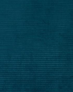 Maille velours côtelé Bleu Canard - Tissushop
