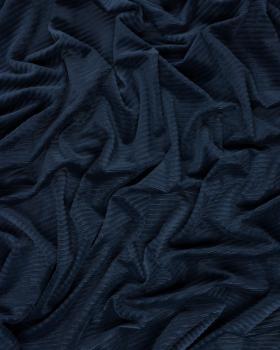 Maille velours côtelé Bleu Marine - Tissushop