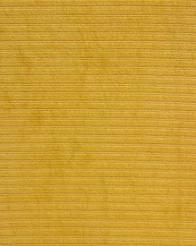 Maille velours côtelé Moutarde - Tissushop