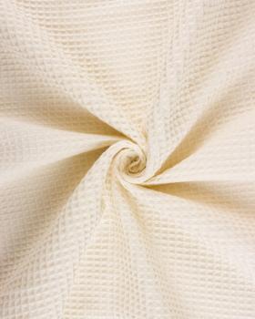 Waffle fabric Ivory - Tissushop
