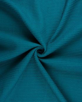 Tissu Nid d'abeille Bleu Canard - Tissushop