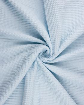 Waffle fabric Light Blue - Tissushop