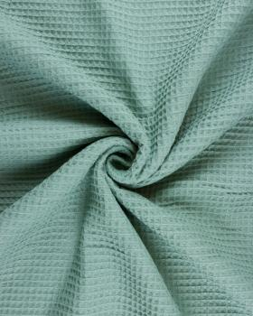 Tissu Nid d'abeille Vert Eucalyptus - Tissushop