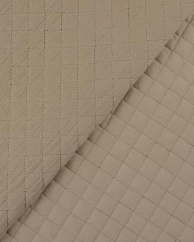 Plain quilted double gauze Walnut - Tissushop