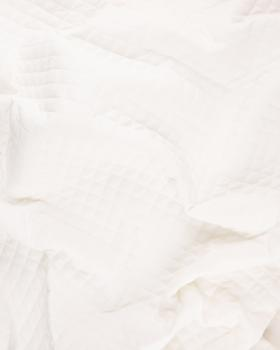 Plain quilted double gauze Ivory - Tissushop