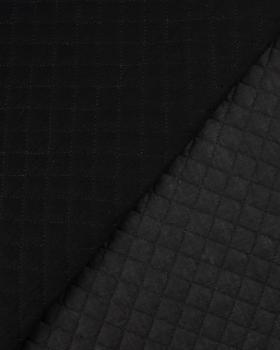 Double gaze matelassée unie Noir - Tissushop