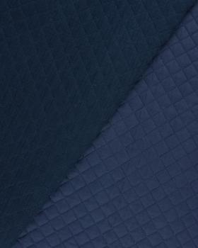 Double gaze matelassée unie Bleu Marine - Tissushop