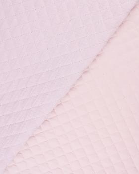 Double gaze matelassée unie Rose Poudré - Tissushop