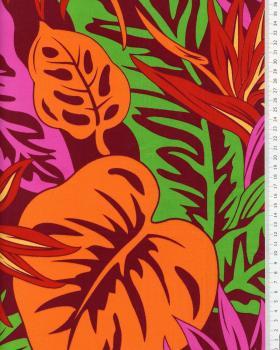 Tissu Polynésien RAO ERE Orange - Tissushop