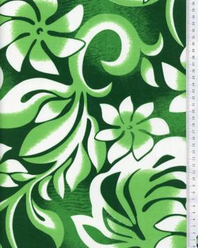 Tissu Polynésien ORANA Vert - Tissushop
