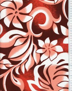 Tissu Polynésien ORANA Rose - Tissushop