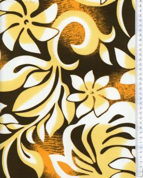 Tissu Polynésien ORANA Jaune - Tissushop