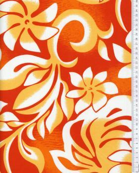 Tissu Polynésien ORANA Orange - Tissushop