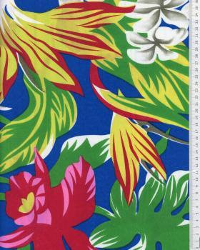 Tissu Polynésien RAHI Bleu - Tissushop