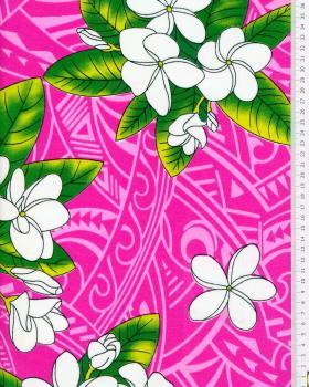Tissu Polynésien MANA Rose - Tissushop