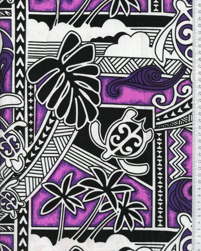 Polynesian Fabric HIRO Purple - Tissushop
