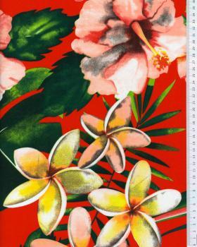 Polynesian fabric ANOIHI Red - Tissushop
