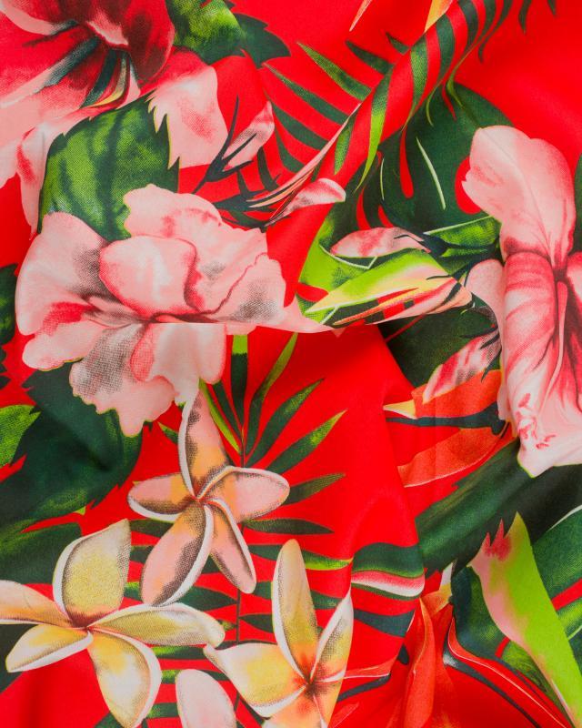 Tissu Polynésien ANOIHI Rouge - Tissushop