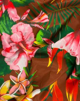 Polynesian fabric ANOIHI Brown - Tissushop