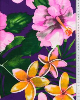 Polynesian fabric ANOIHI Purple - Tissushop