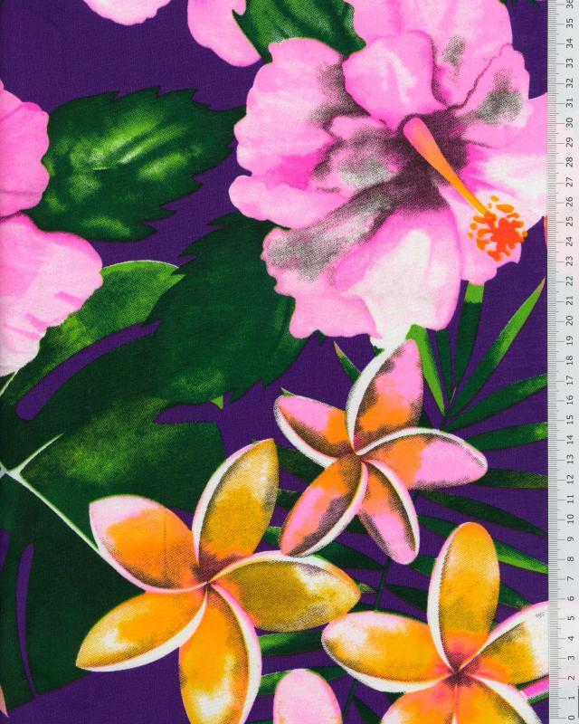 Tissu Polynésien ANOIHI Violet - Tissushop