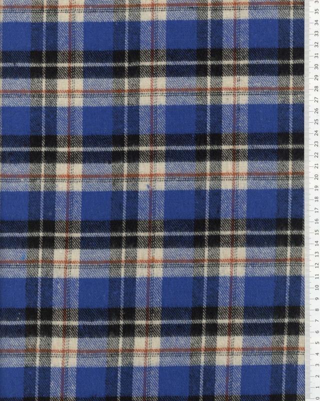 Flanelle Tartan Inverness Bleu - Tissushop