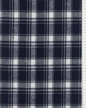 Tartan Flannel Traditional Navy Blue - Tissushop