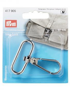 Snap hook 40 x 60 mm Prym Silver - Tissushop