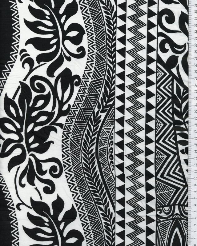 Polynesian Fabric EIMEO Black - Tissushop