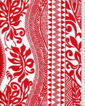 Tissu Polynésien EIMEO Rouge - Tissushop
