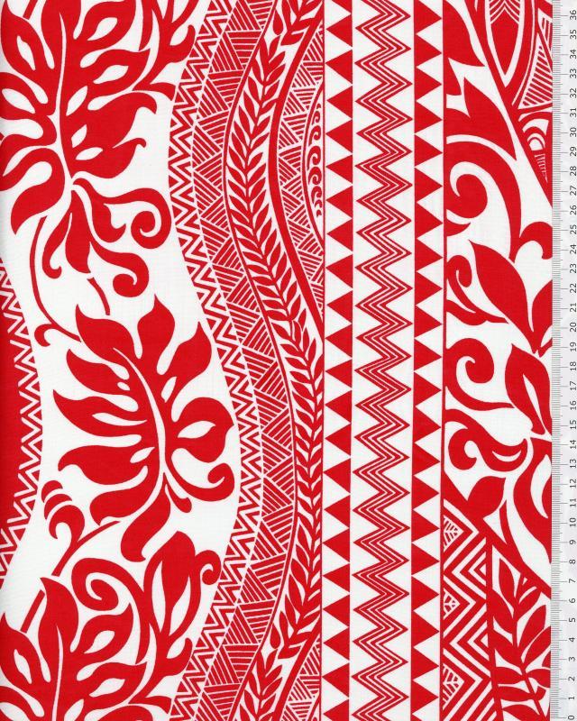 Polynesian Fabric EIMEO Red - Tissushop
