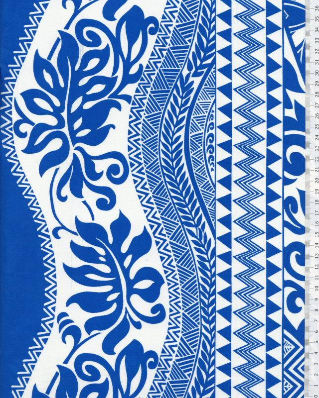 Polynesian Fabric EIMEO Blue - Tissushop