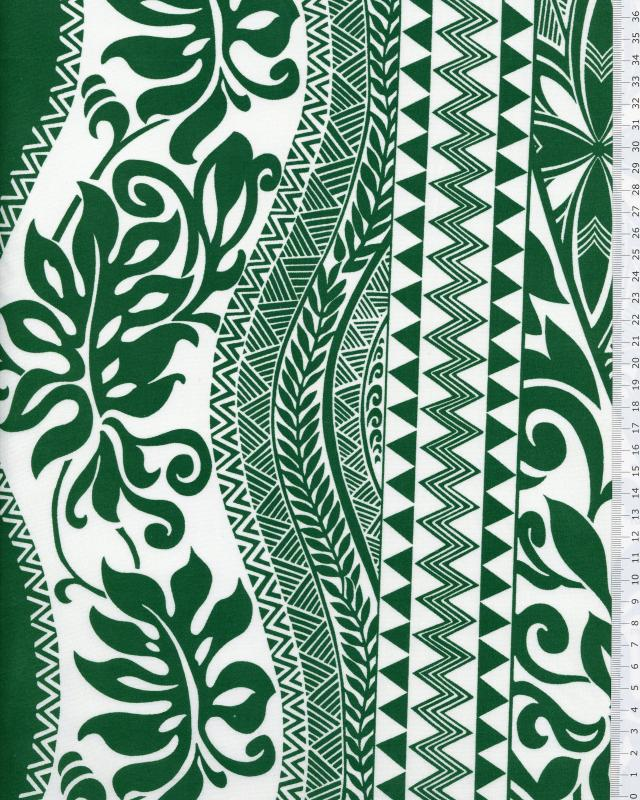 Polynesian Fabric EIMEO Green - Tissushop